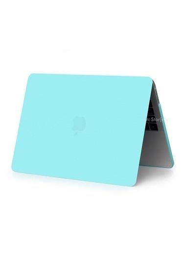 """Mcstorey Yeni MacBook Pro Type-c A1707 A1990 15.4"""" Kılıf Kapak Hard case Mat Turkuaz"""